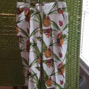 🌴Bill Blass Tropical Sz 16 W Fun Capri Pants 🌴